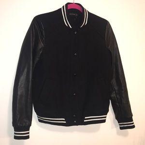 Zara Sz small black bomber jacket